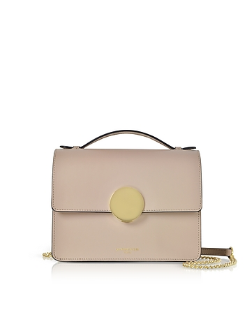 Le Parmentier Mauve Ondina Flap Top Leather Satchel Bag