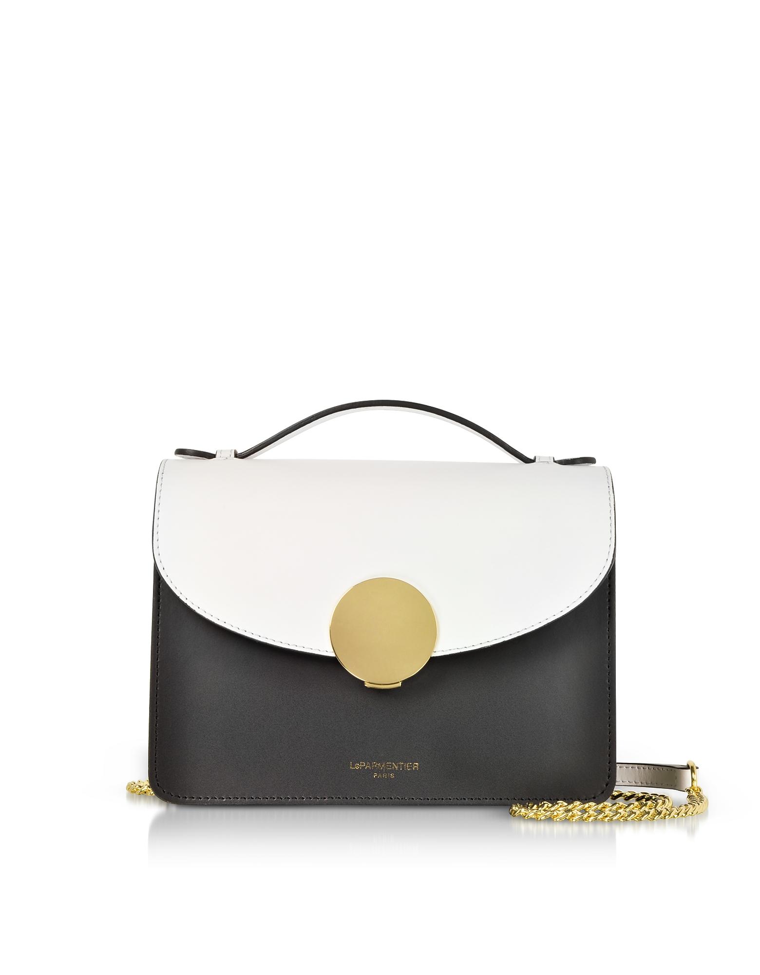 Le Parmentier Handbags, New Ondina Color Block Flap Top Leather Satchel Bag