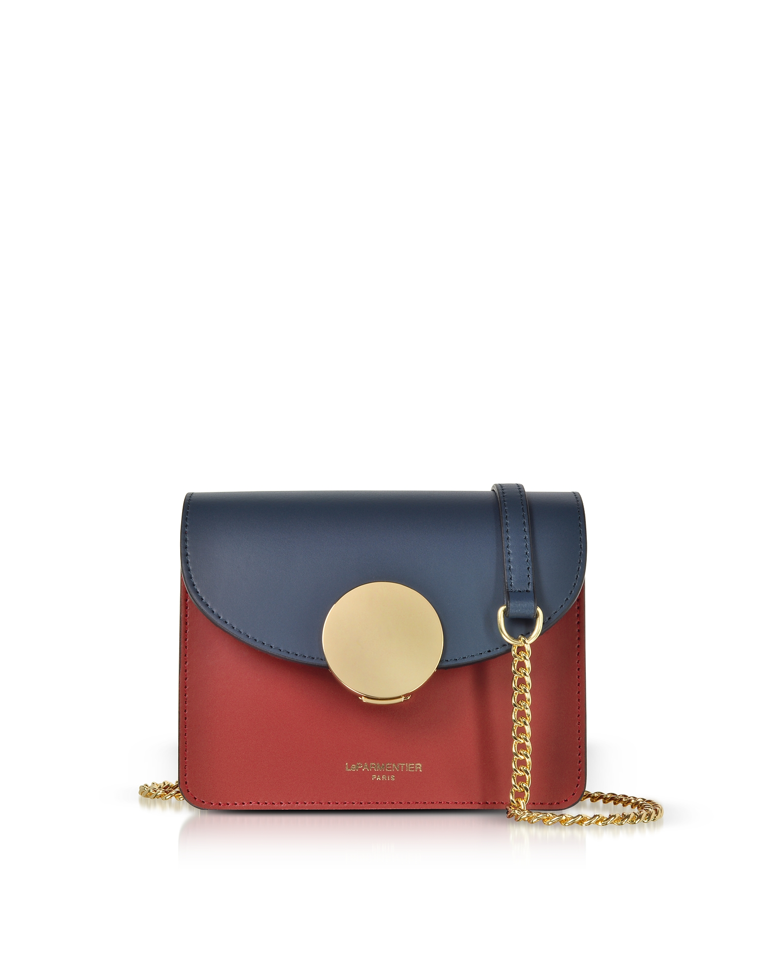 Le Parmentier Designer Handbags, New Ondina Mini Color Block Shoulder Bag