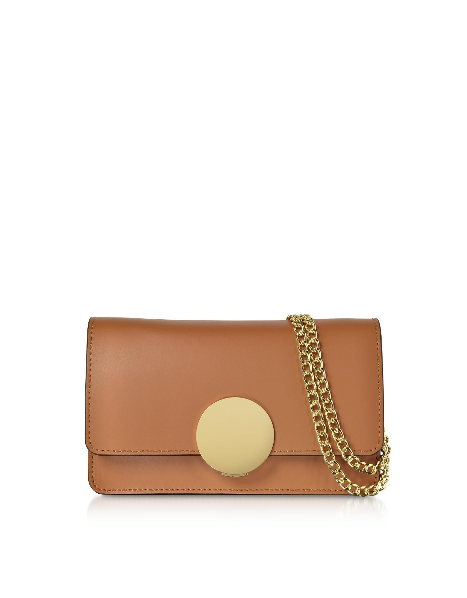 Le Parmentier Designer Handbags, New Ondina Nano Leather and Suede Crossbody Clutch
