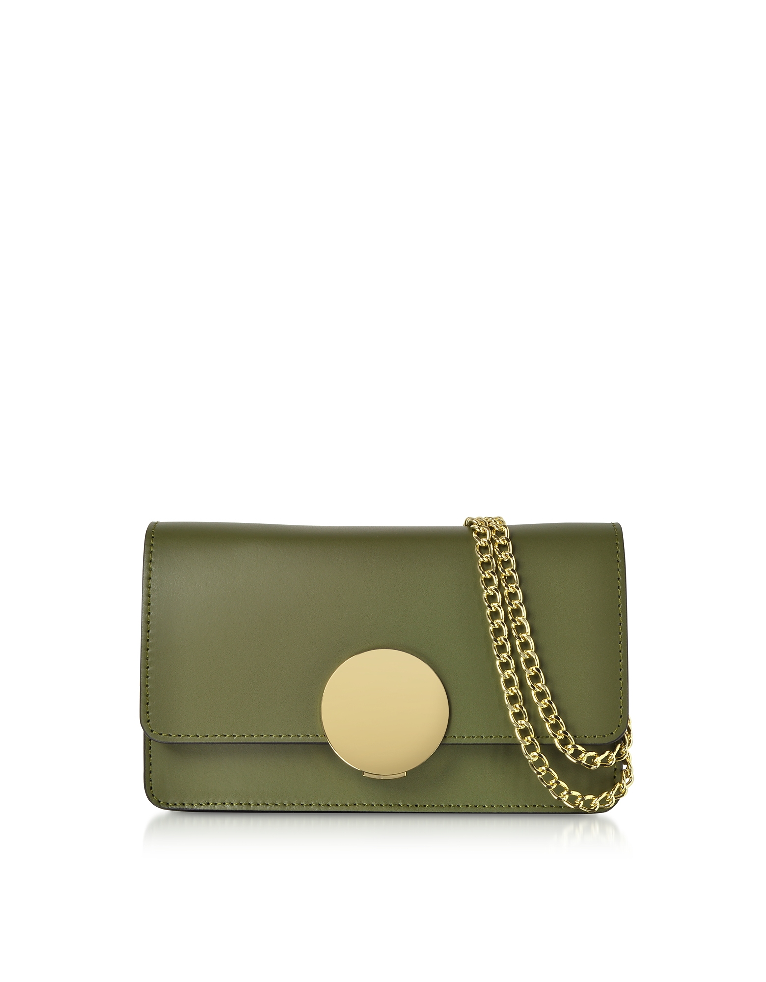 Le Parmentier Handbags, New Ondina Nano Leather and Suede Crossbody Clutch