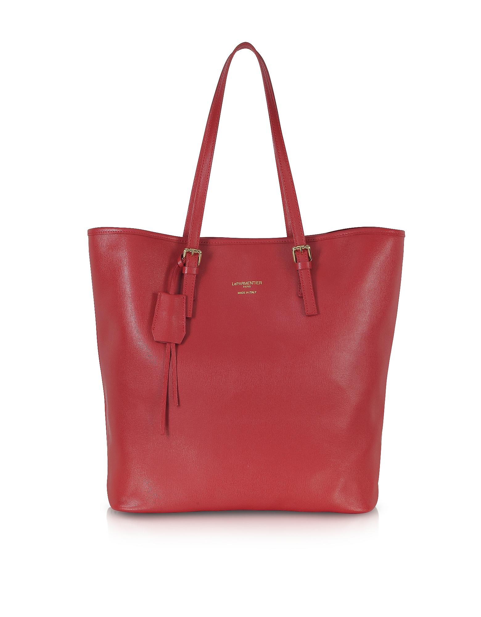 Le Parmentier Handbags, Large Saffiano Leather Tote