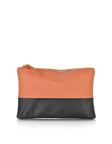 Foto Le Parmentier Clutch in Pelle Color Block Borse donna