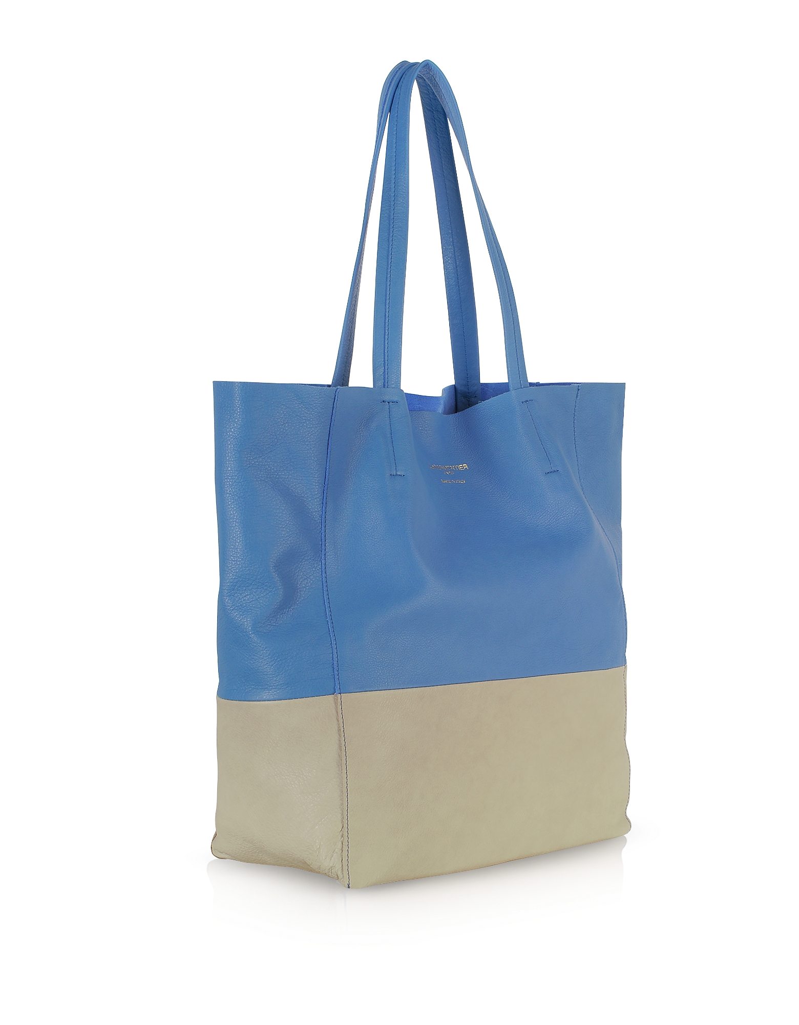 Large Color Block Nappa Leather Tote от Forzieri.com INT
