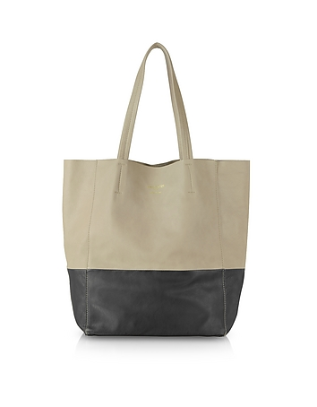 Le Parmentier - Large Color Block Nappa Leather Tote