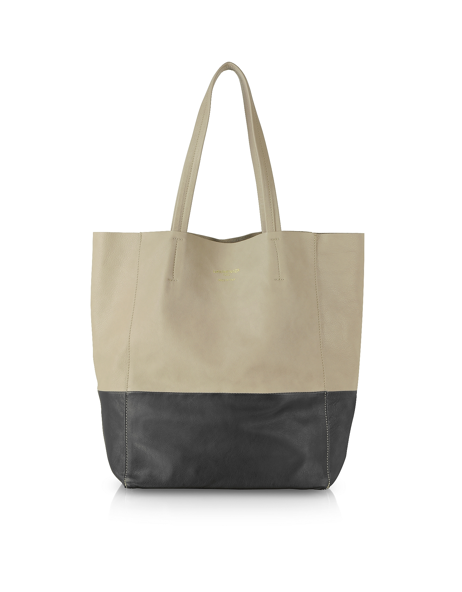 Le Parmentier Handbags, Large Color Block Nappa Leather Tote