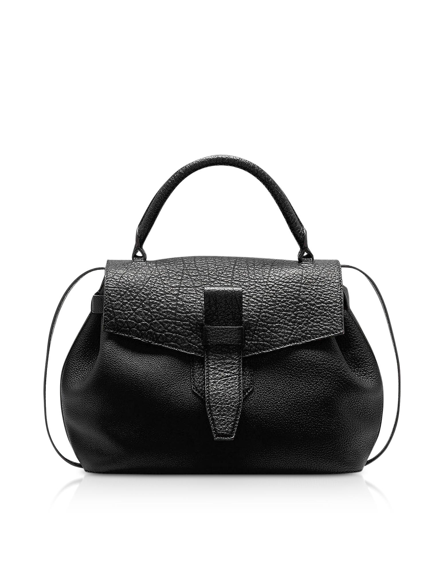 Lancel Designer Handbags, Charlie Medium Grained Leather Handbag
