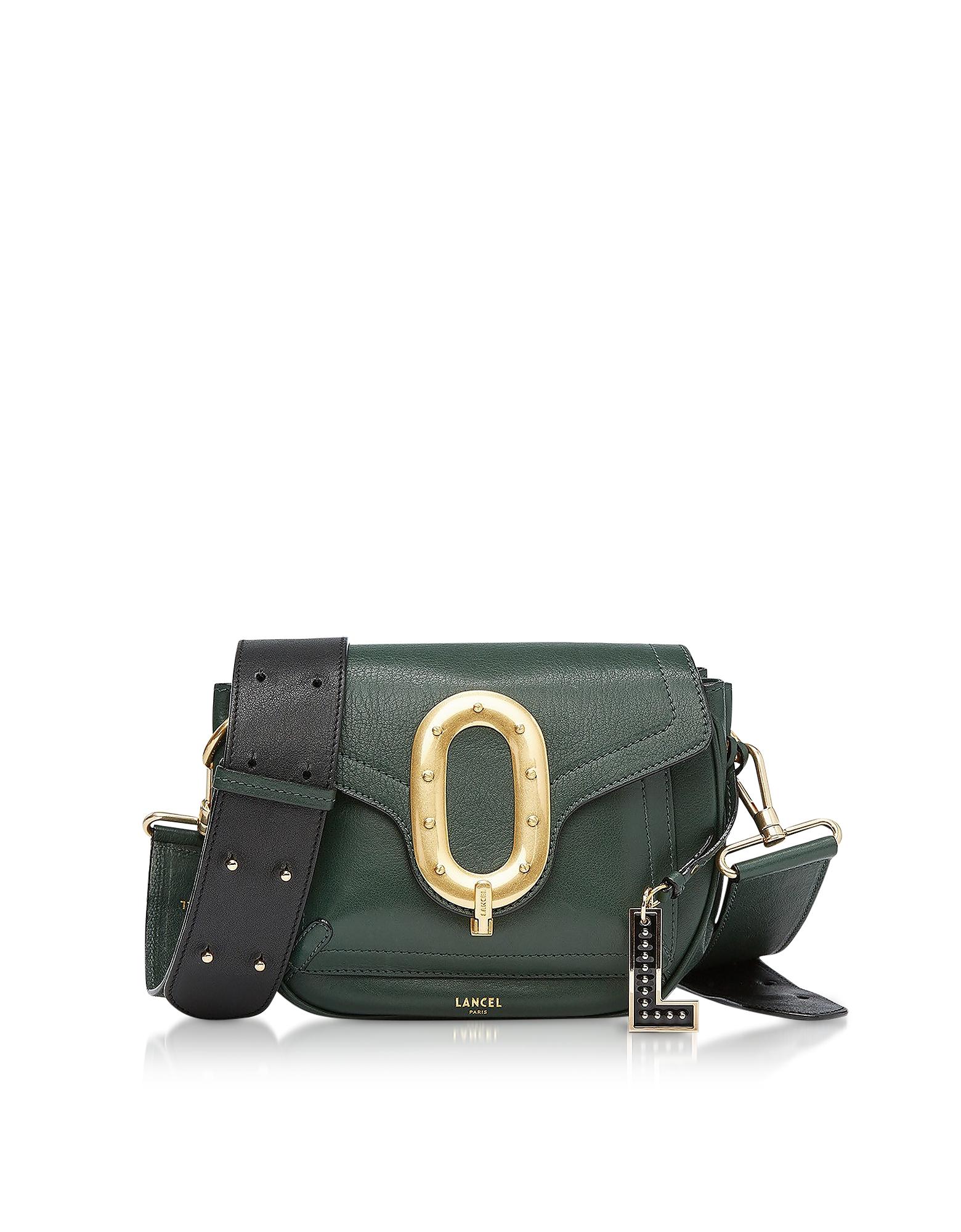 Romane Medium Dark Green Saddle Bag