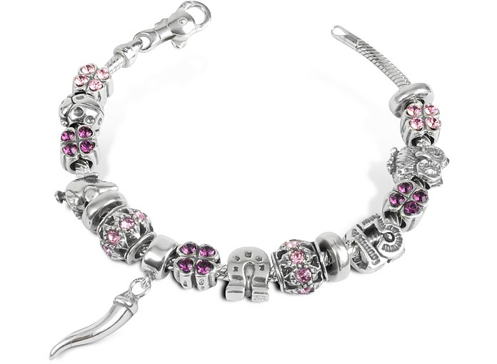 Sterling Silver Lucky Charm Bracelet - Tedora