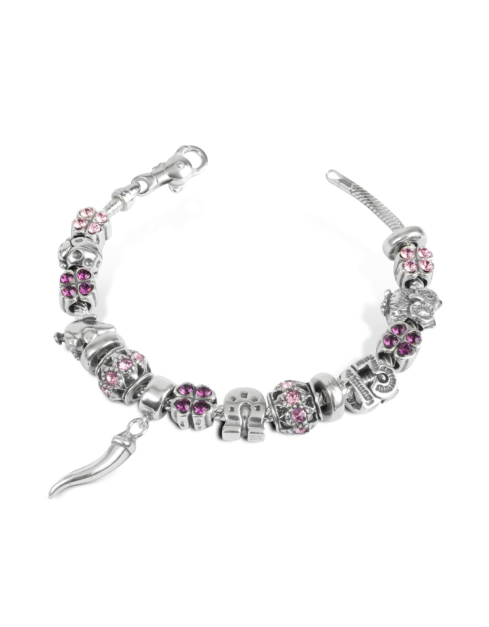 Tedora Bracelets, Sterling Silver Lucky Charm Bracelet