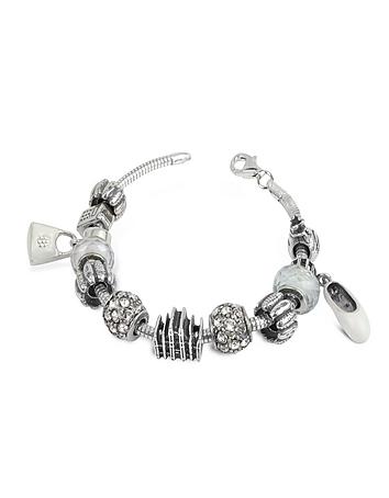 Tedora - Sterling Silver Milan Charm Bracelet