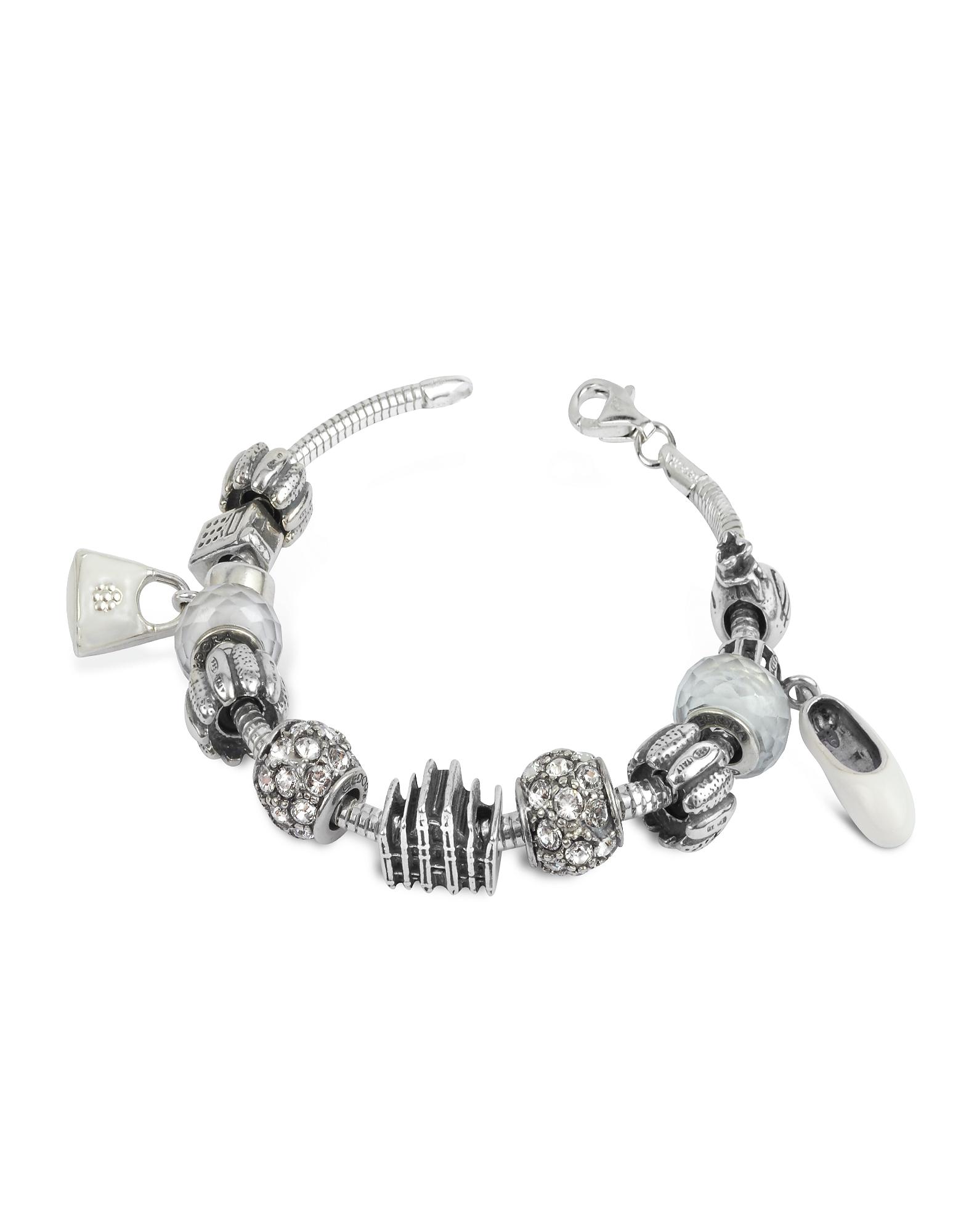 Tedora Bracelets, Sterling Silver Milan Charm Bracelet