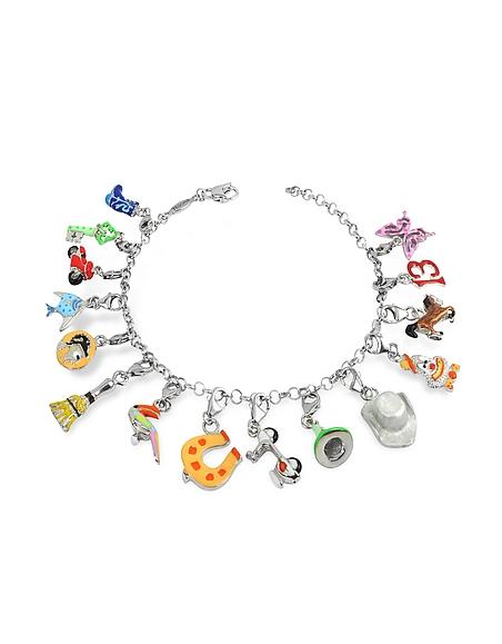 Tedora Bracelet en argent fin multicolores
