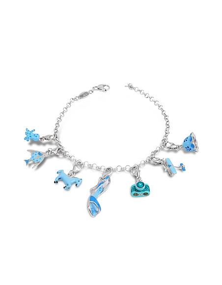 Tedora Bracelet en argent fin bleu