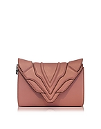 Elena Ghisellini Felina Mignon Sensua Blush Leather Clutch eg130117-001-00