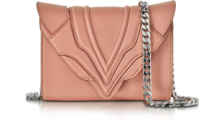 Felina Mignon Sensua Blush Leather Clutch - Elena Ghisellini