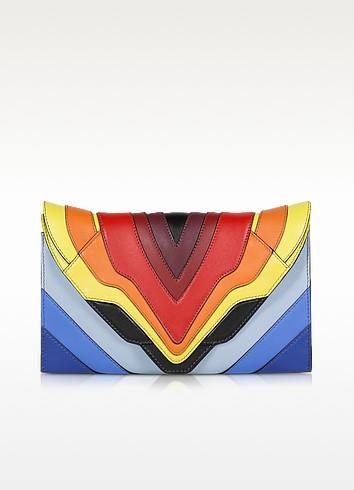 Elena Ghisellini Selina Rainbow Flag - Маленький Разноцветный Кожаный Клатч