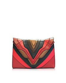 Felina Mignon Burning Lines Multicolor Leather Crossbody - Elena Ghisellini
