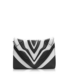 Felina Mignon Graphic Lines Crossbody aus Leder in schwarz & weiß  - Elena Ghisellini