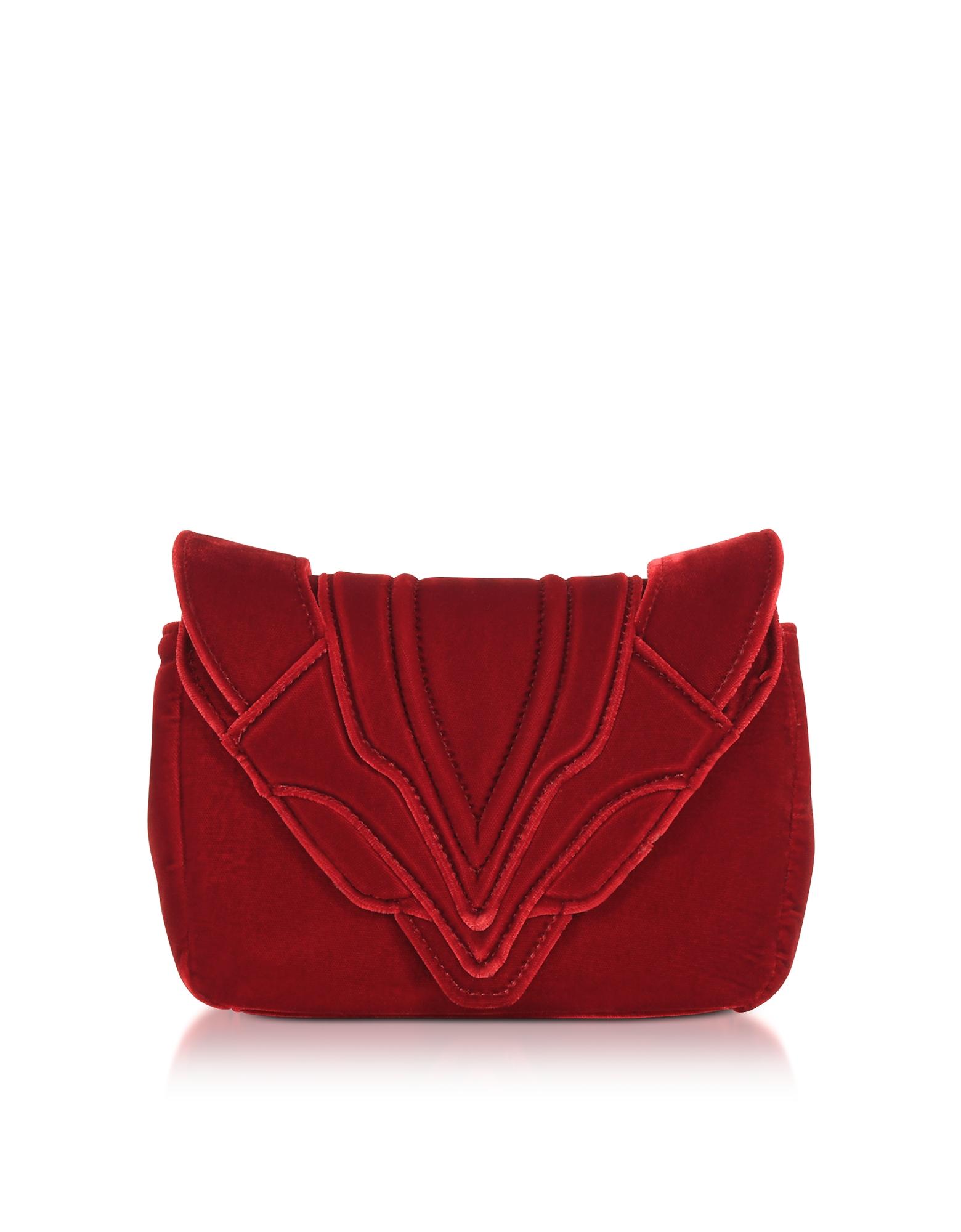 Elena Ghisellini Handbags, Ribes Velvet Felix Clutch