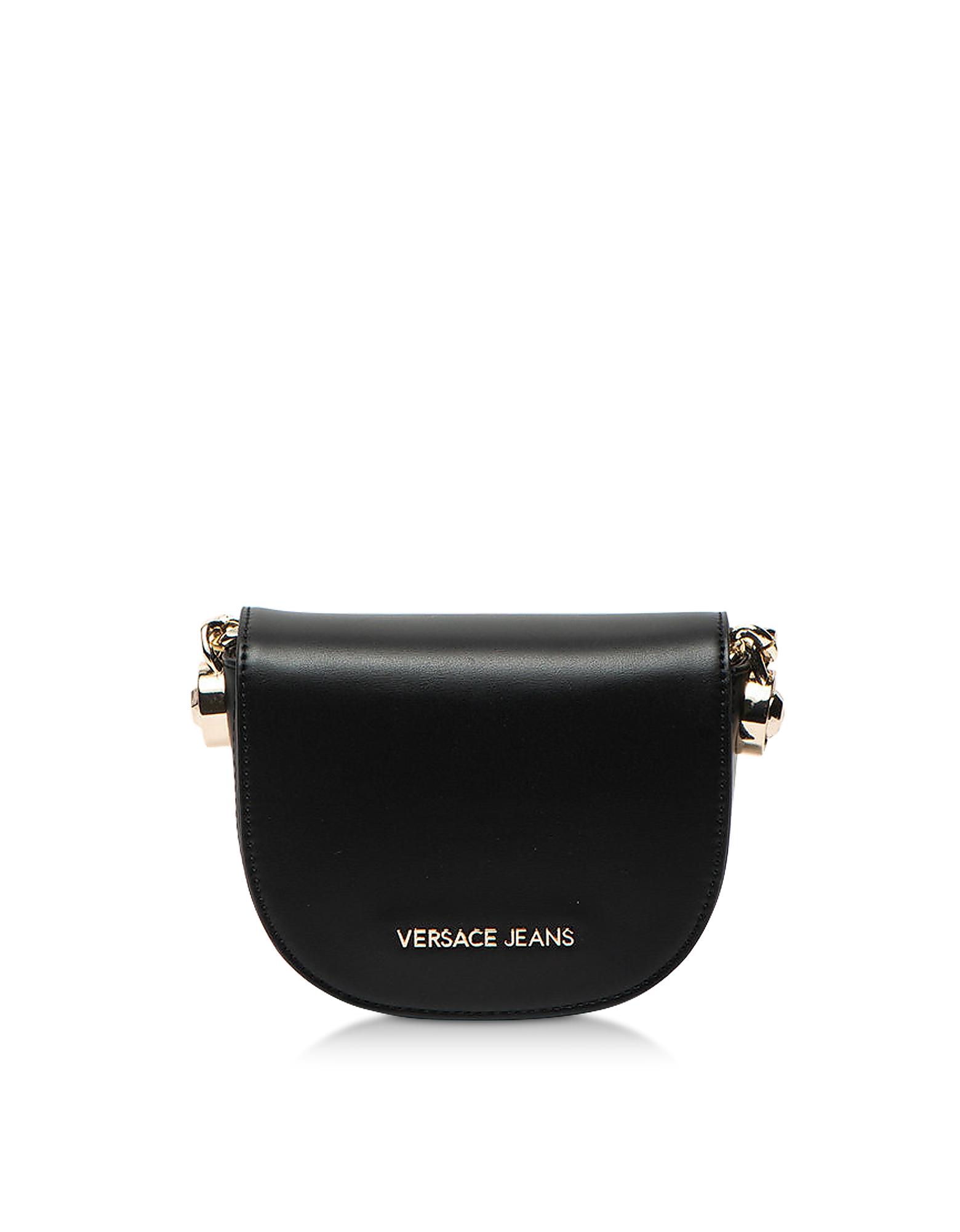 Versace Jeans Designer Handbags, 1 Dis. 14 Black Polyester Shoulder Bag