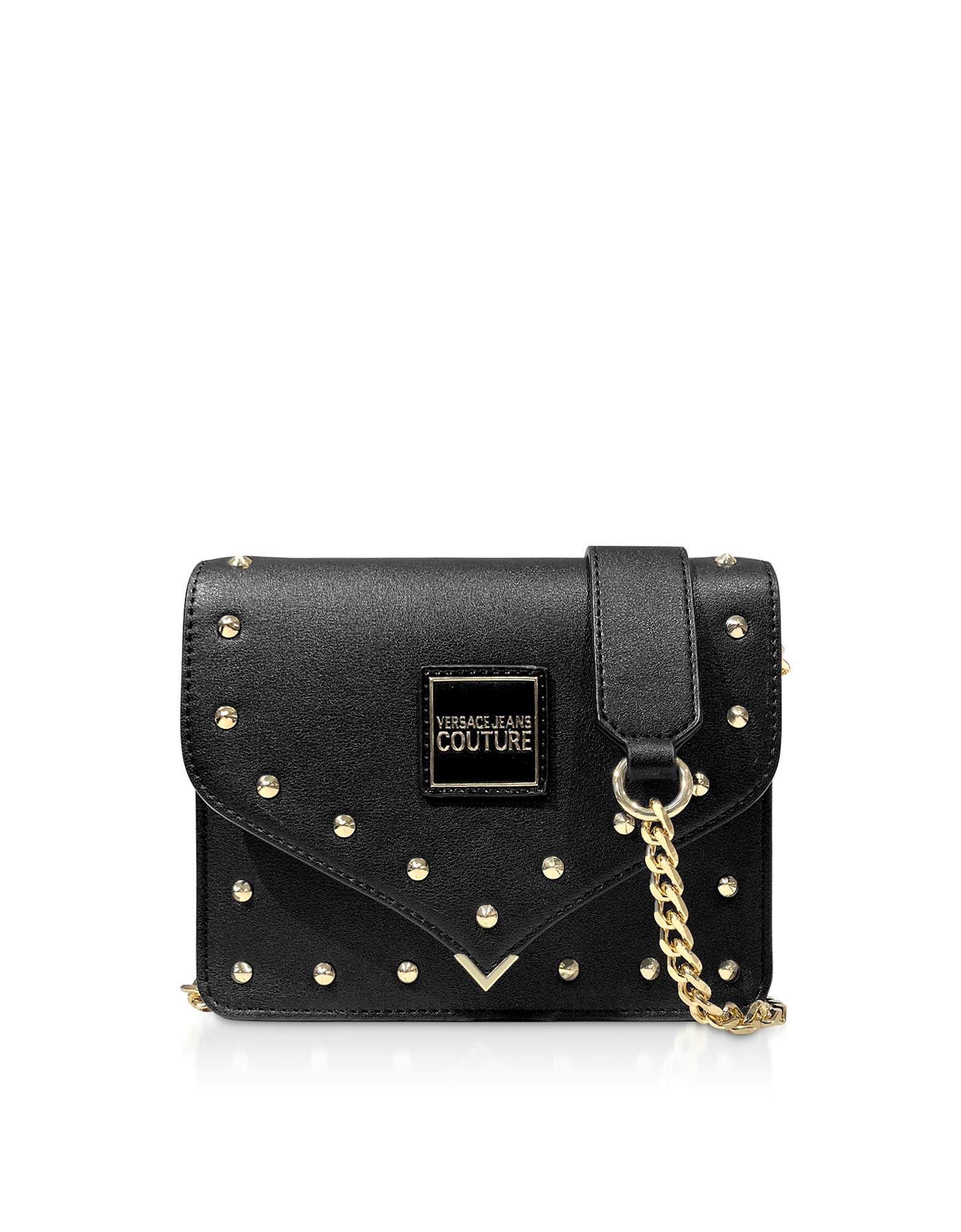 Nappa Crossbody Bag w/Studs