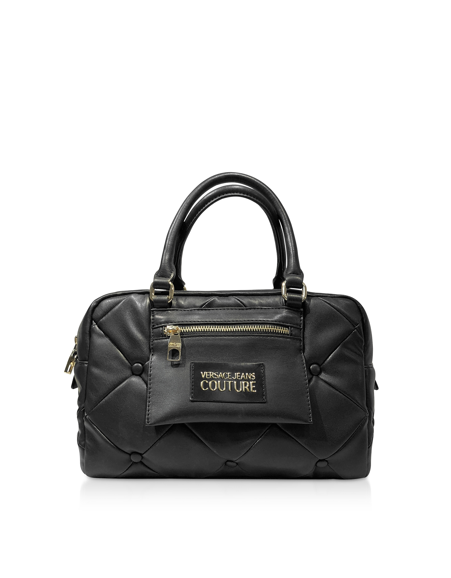 Versace Jeans Couture Designer Handbags, Quilted Nappa Satchel Bag