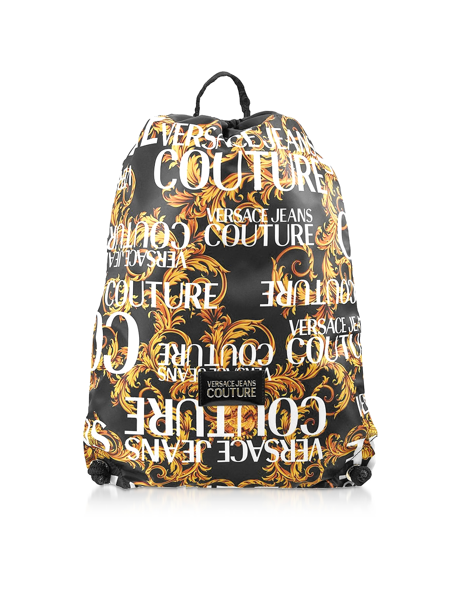 Barocco Printed Nylon Drawstring Backpack