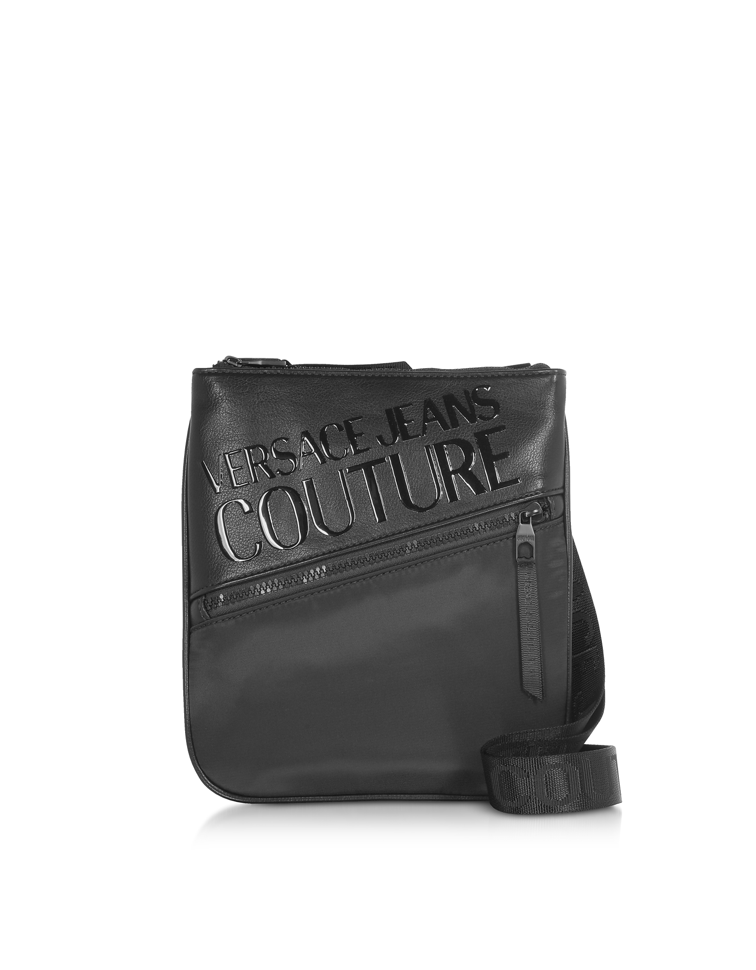 Black Signature Men's Crossbody Bag