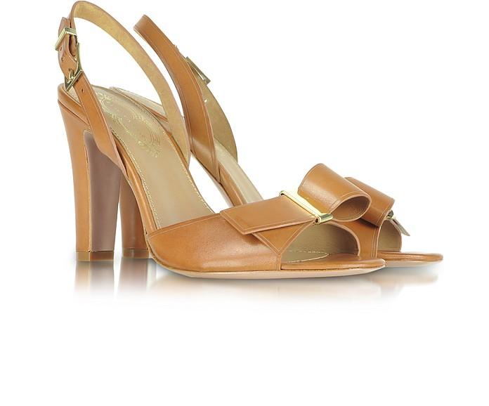 Alice - Brown Leather Sandal - Elie Tahari