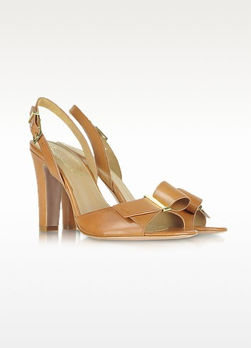 Alice - Brown Leather Sandal - Elie Tahari