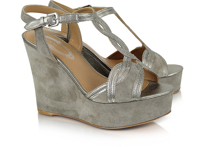 Lynette Suede Platform Wedge Shoes - Elie Tahari