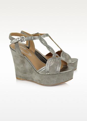 Lynette Suede Platform Wedge Shoes - Elie Tahari