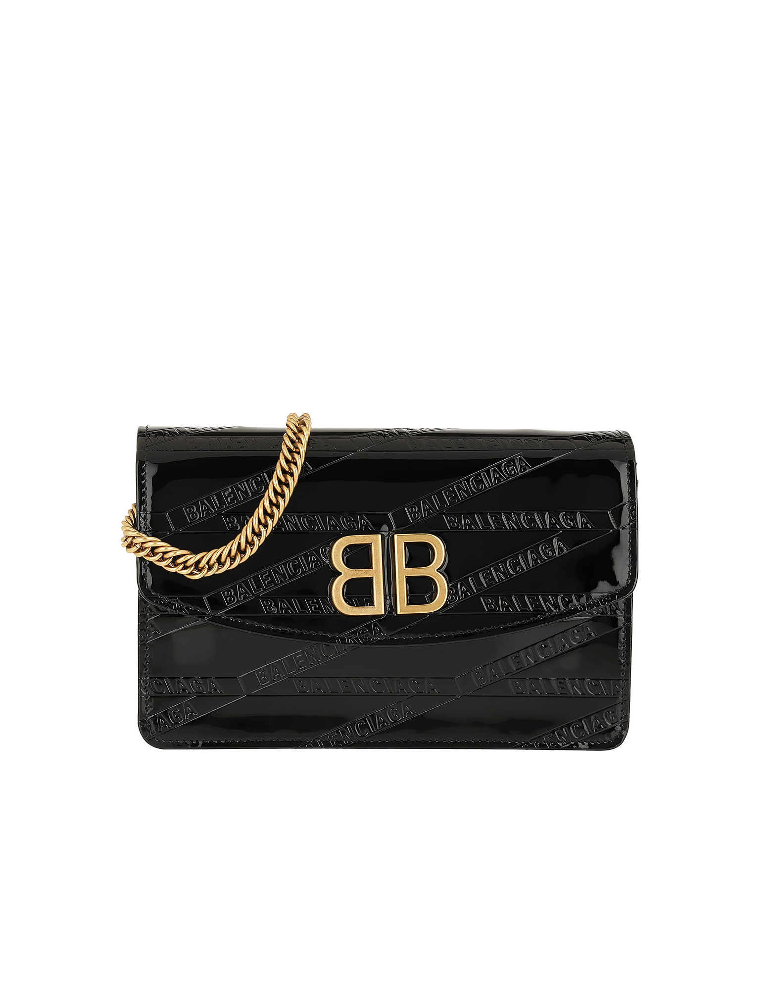 BB Shoulder Bag Leather Black