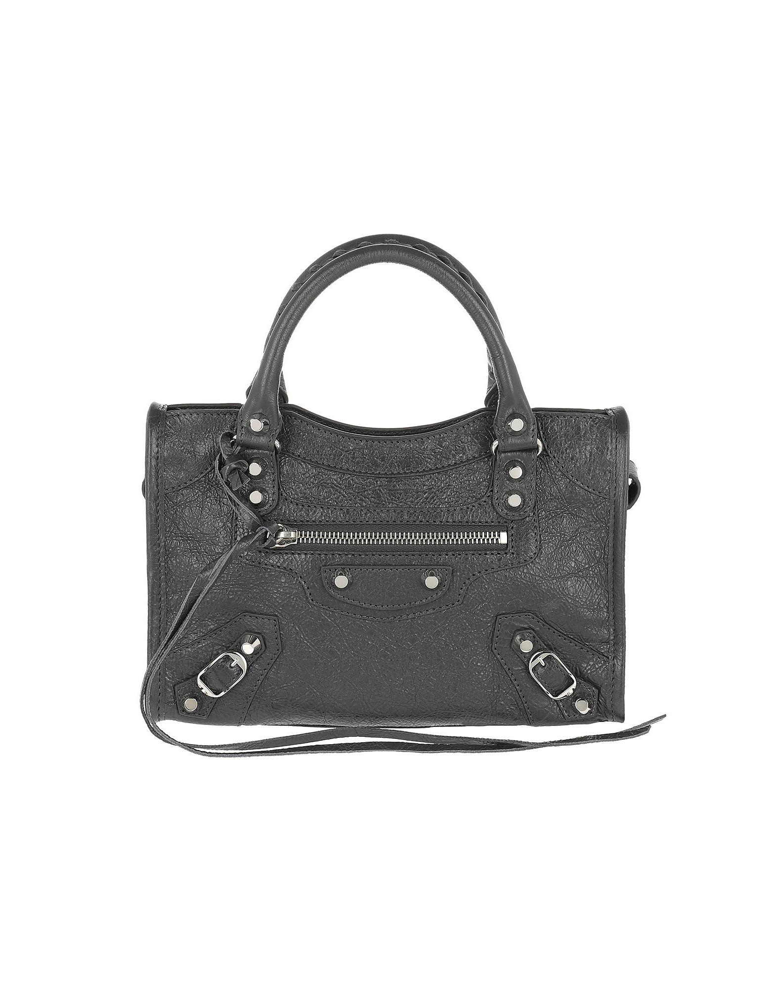 Balenciaga Handbags, Mini Classic City Shoulder Bag Leather Grey