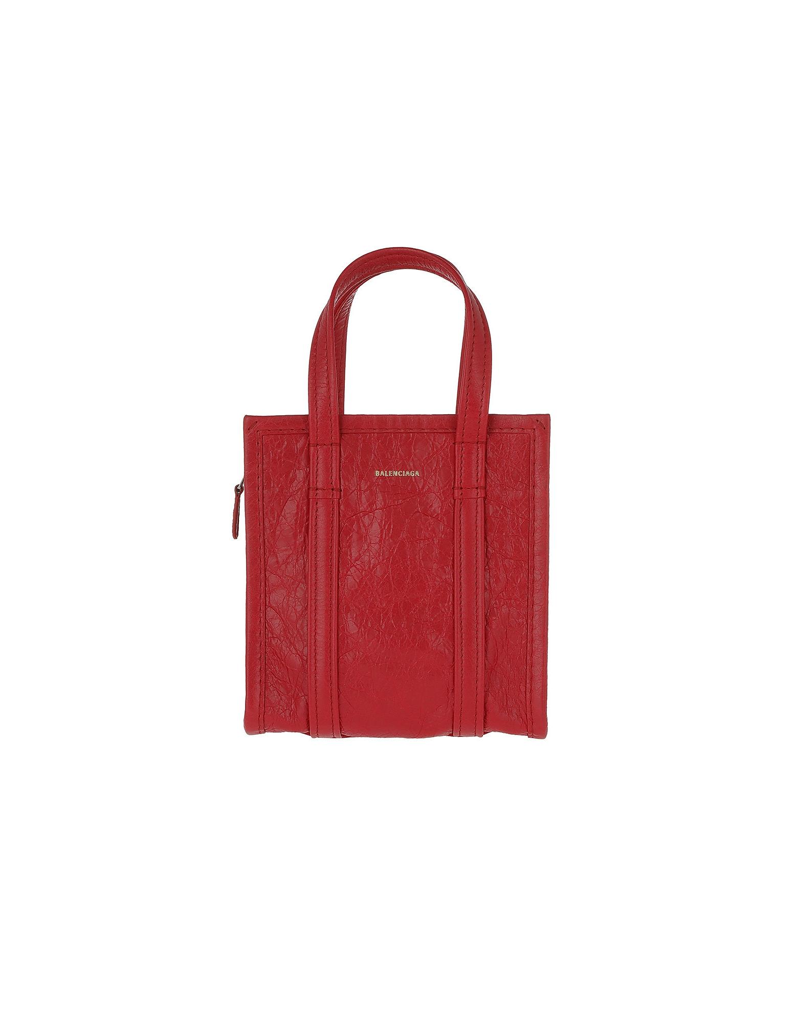 Balenciaga Handbags, Bazar Shopper XXS Rouge