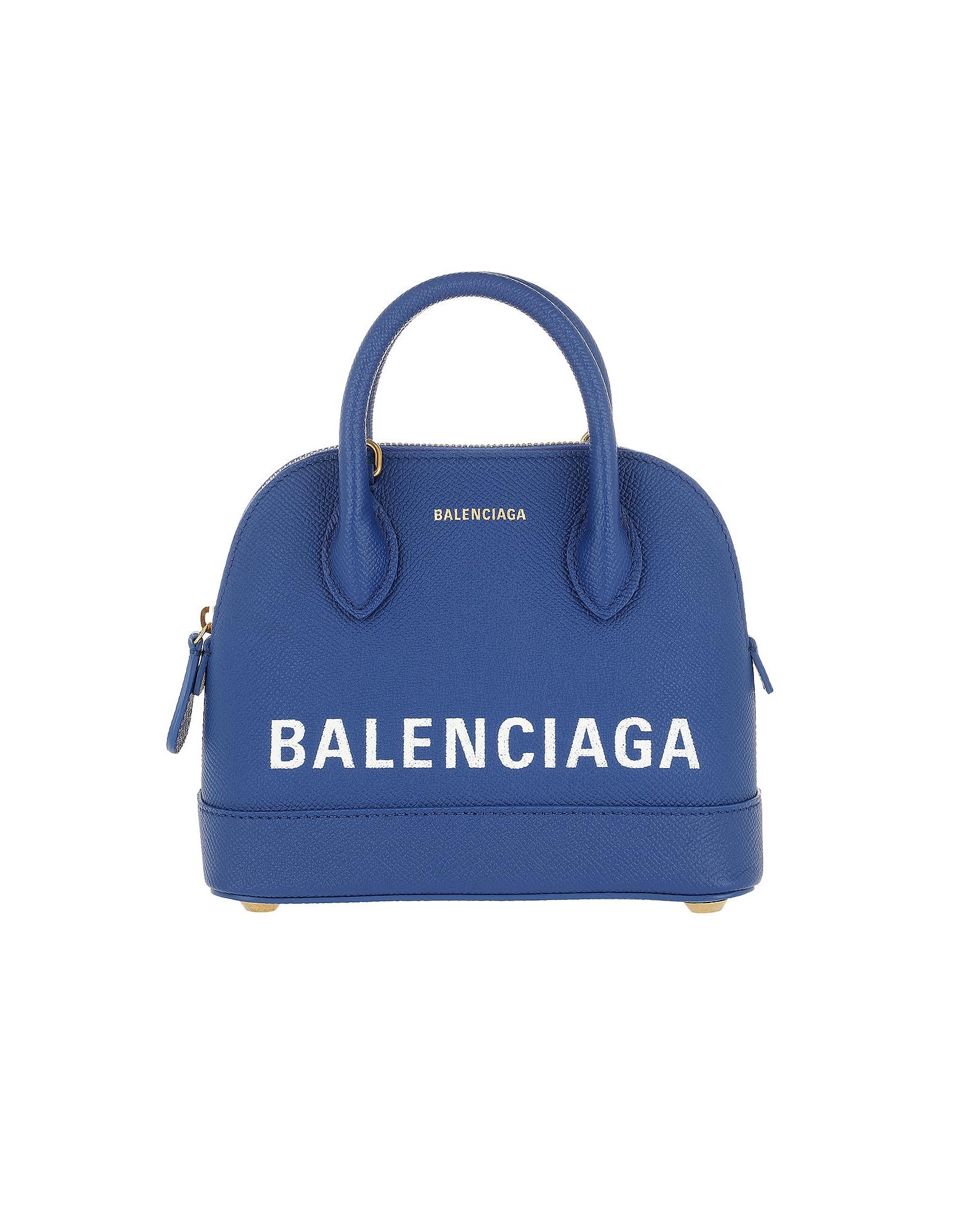 Balenciaga Handbags, Ville Top Handle Bag XXS Blue