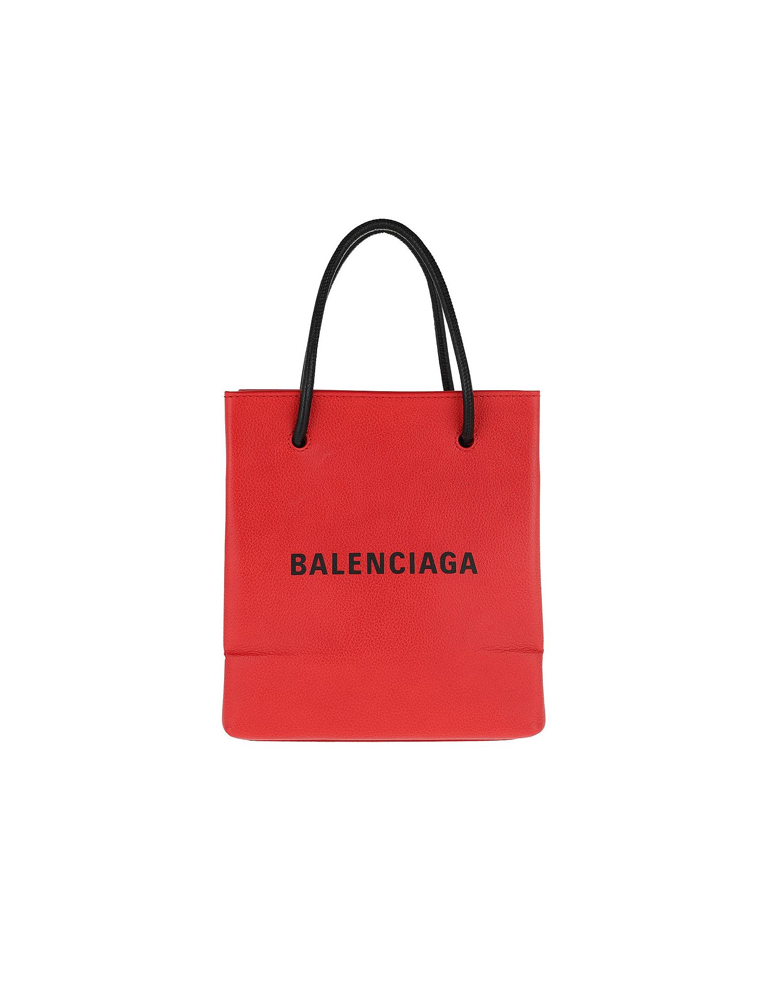 Balenciaga Handbags, Shopping Tote XXS Red/Black