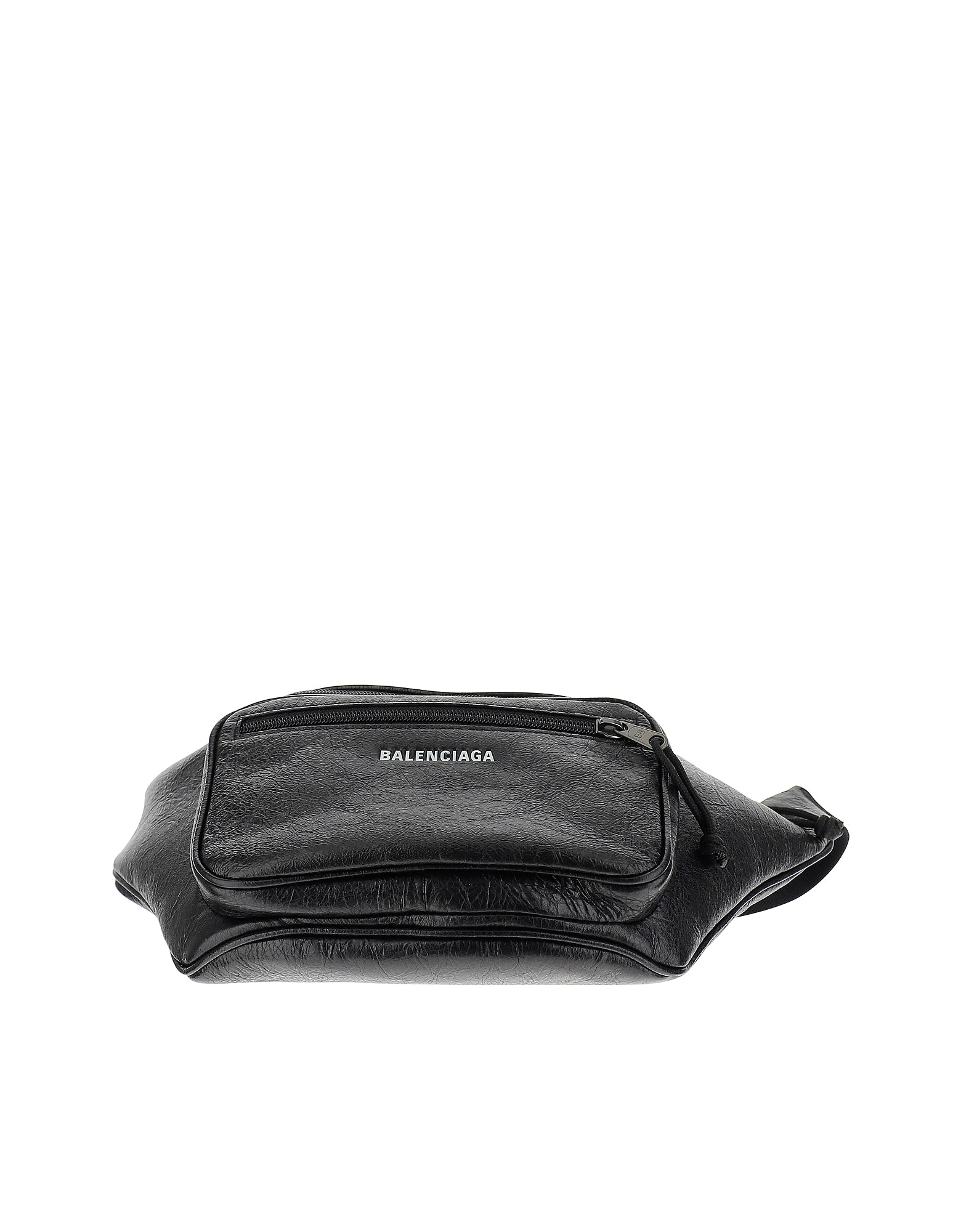Balenciaga Designer Men's Bags, Black Leather Belt Bag