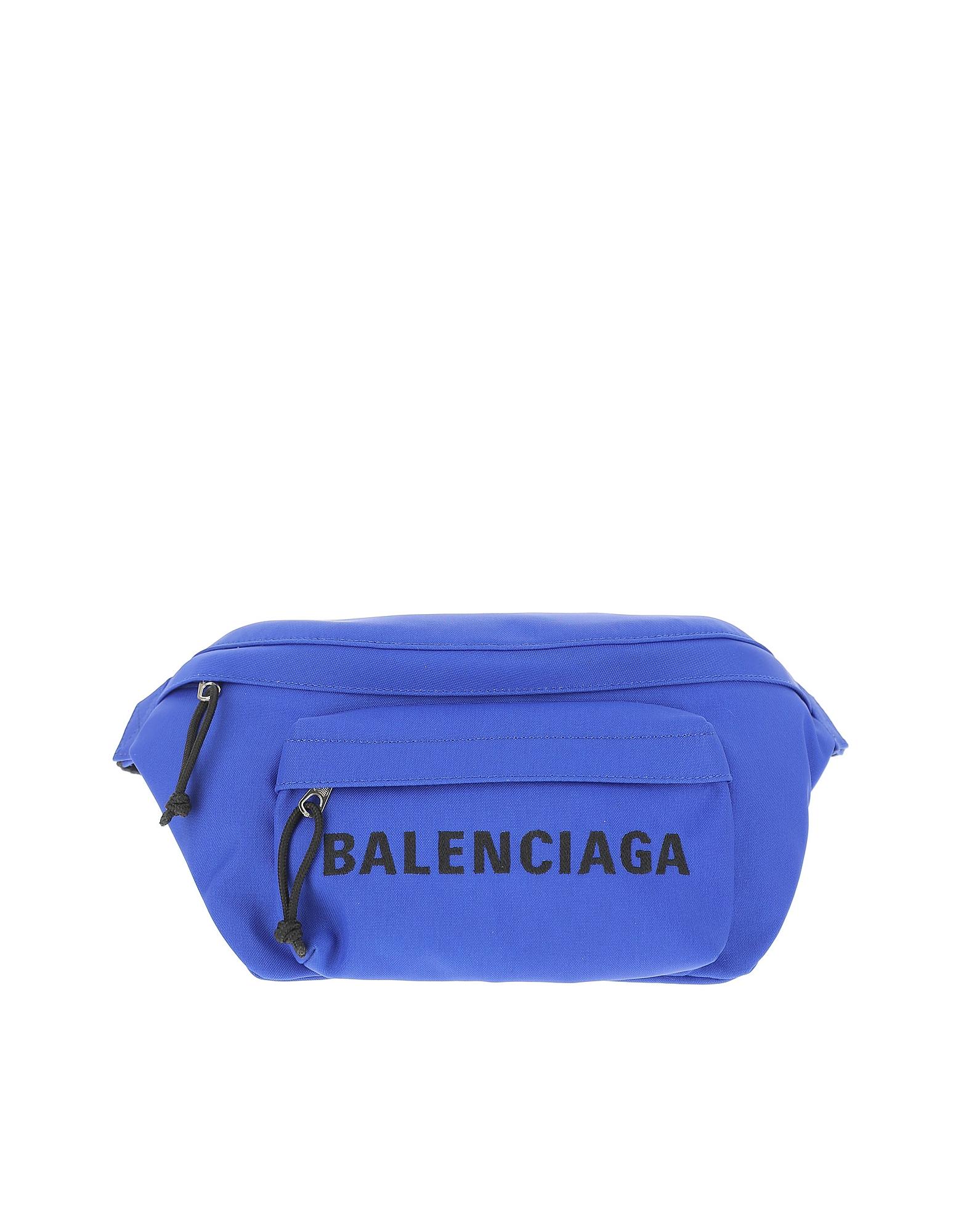 Balenciaga Designer Men's Bags, Blue Signature Belt BAg