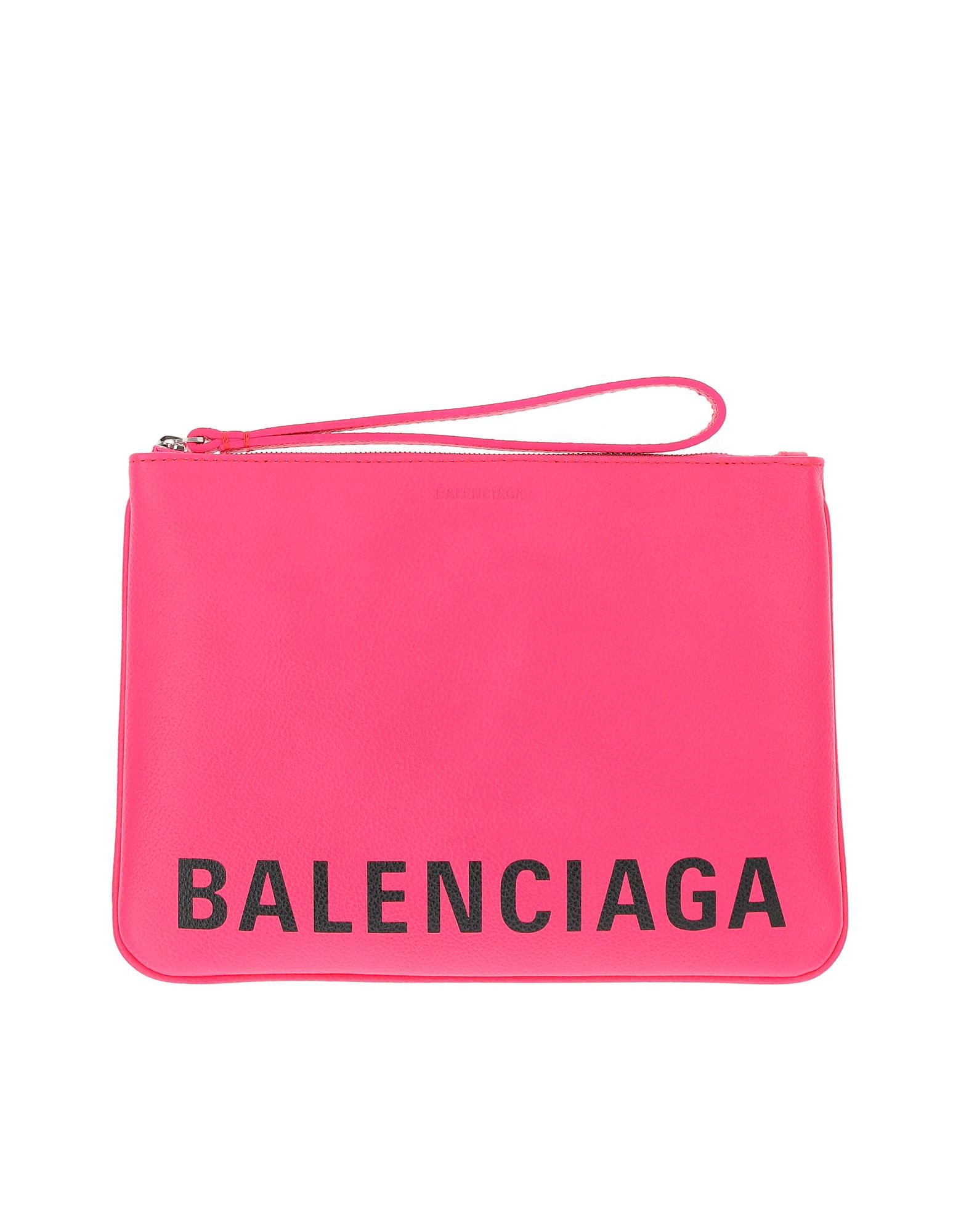Balenciaga Designer Wallets, Fuchsia Wallet/Clutch