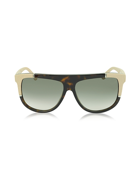 Balenciaga BA0025 Damen-Sonnenbrille aus Acetat mit Kautschukdetail