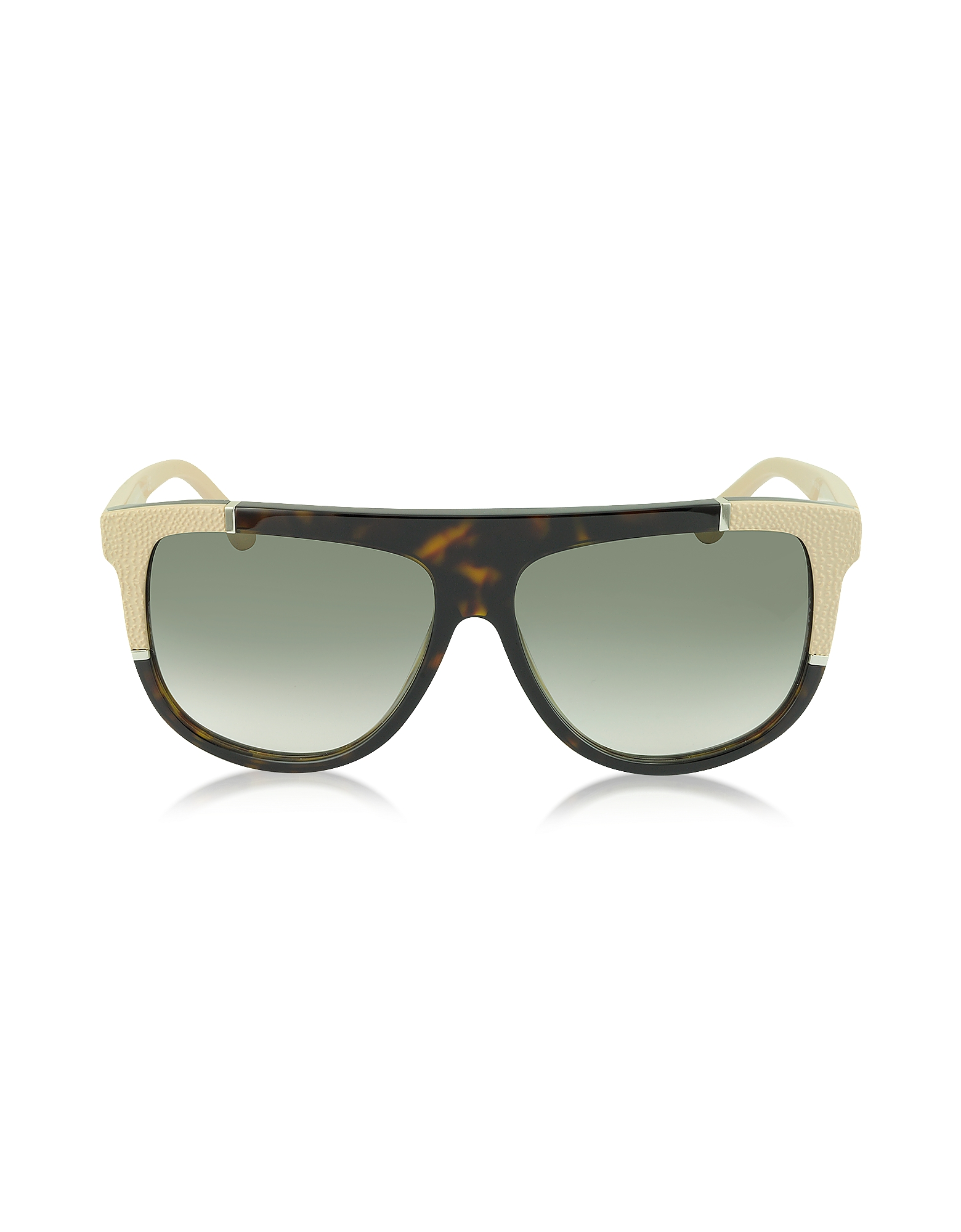 Balenciaga Sunglasses, BA0025 Acetate Shield Women's Sunglasses w/Rubber Details
