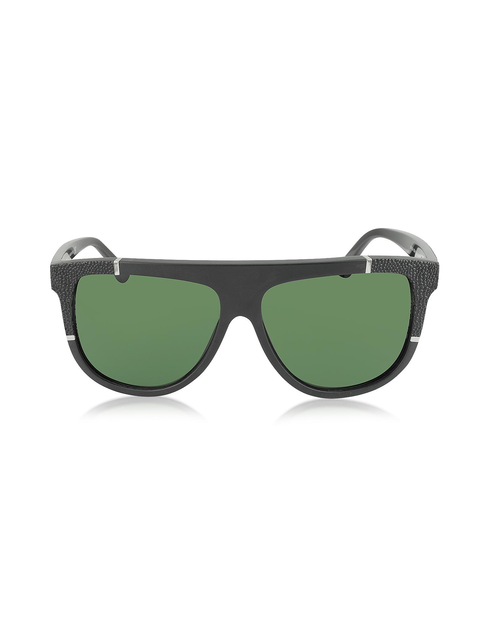 Balenciaga Sunglasses, BA0025 Acetate Shield Women's Sunglasses w/Rubber Details