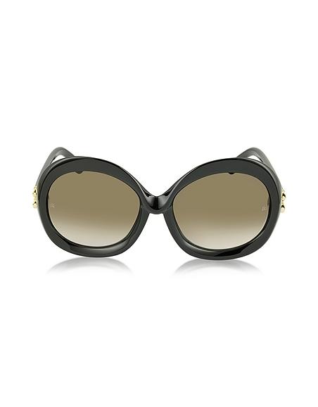 Balenciaga BA0007 01F Damen-Sonnenbrille aus Acetat in schwarz