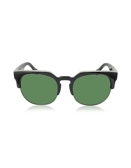 Balenciaga BA0021 01B Damen-Sonnenbrille aus Acetat und Metall in schwarz gold