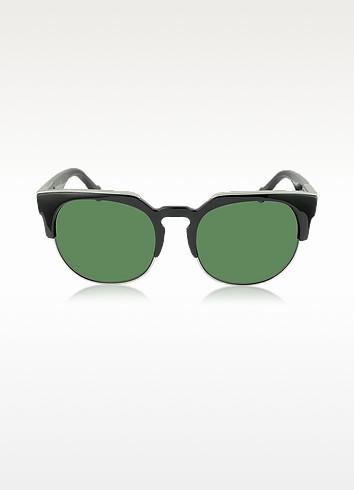 BA0021 01B Black Acetate & Gold Metal Women's Sunglasses - Balenciaga