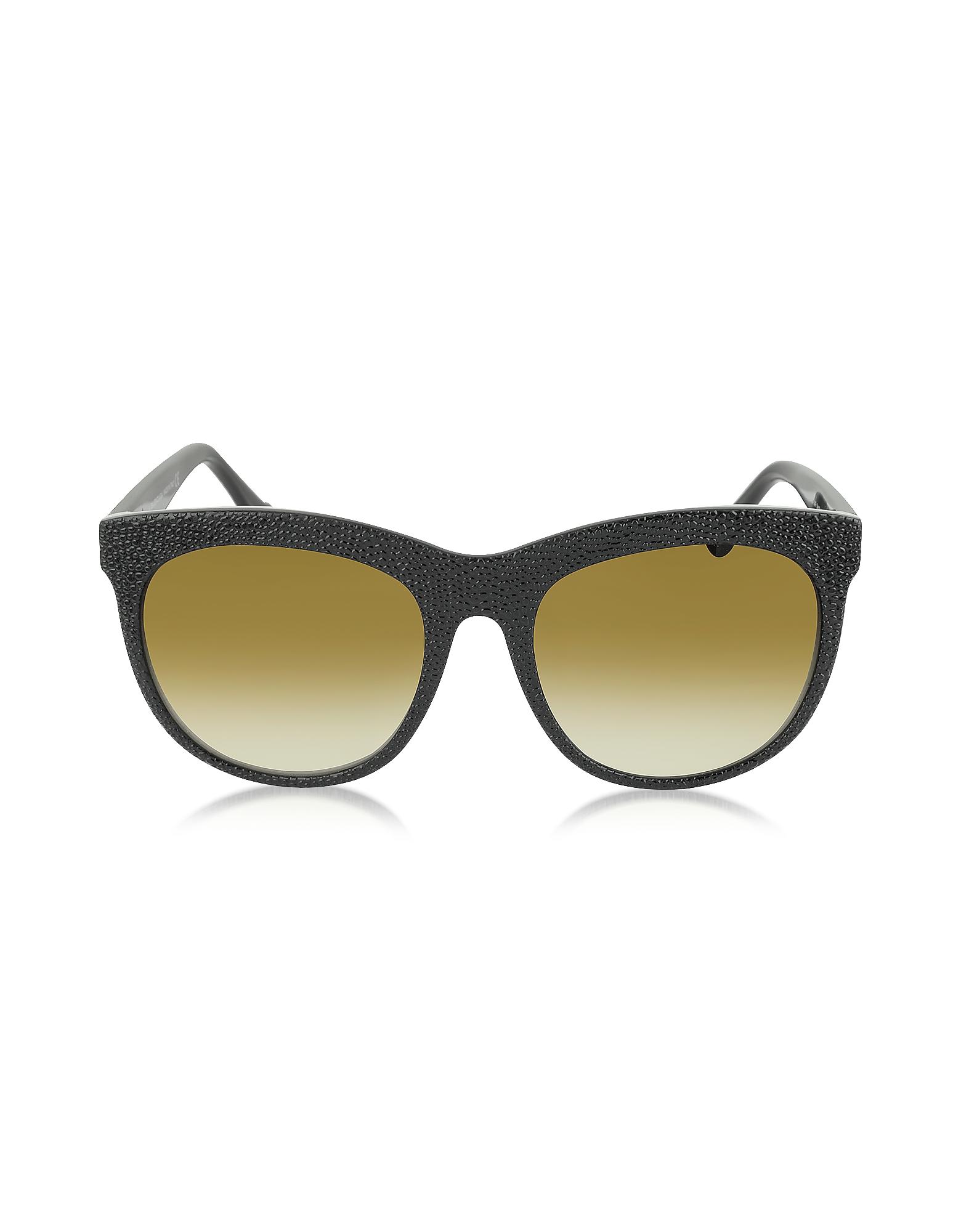 Image of Balenciaga Designer Sunglasses, BA0024 04F Black Rubber & Acetate Cat Eye Sunglasses