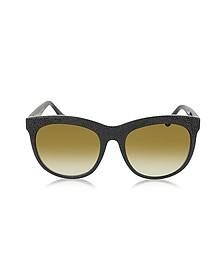 BA0024 04F 黑色橡胶与醋酸猫眼太阳镜 - Balenciaga 巴黎世家