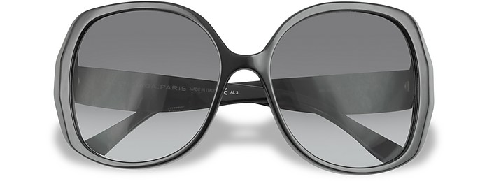 Bevelled Edge Round Sunglasses - Balenciaga